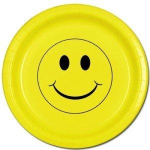 SMILEY FACE DINNER PLATE