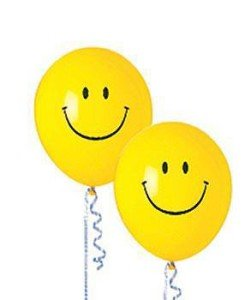 Smiley Face Latex Balloons