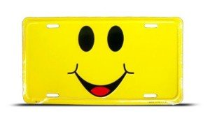 Smiley Face License Plate