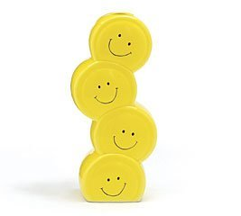 Smiley Happy Face Stacked Vase
