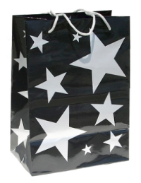 Stars Gift Bag - Silver