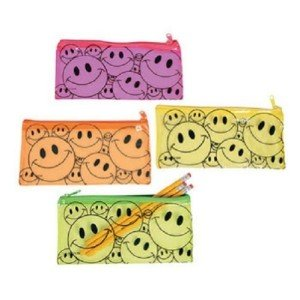Vinyl Smile Face Pencil Pouch