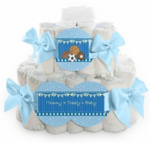 All Star Sports Diaper Cake