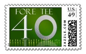 Custom 40th Birthday Golf Postage