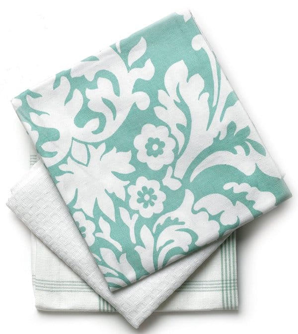 Damask Print Kitchen Towels