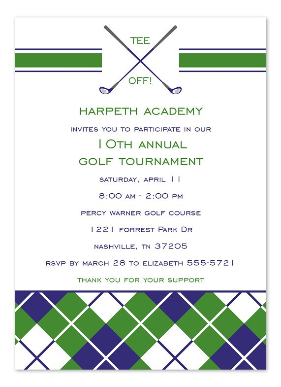Golf Tournament Invitation