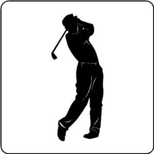 Golfer Wall Decals