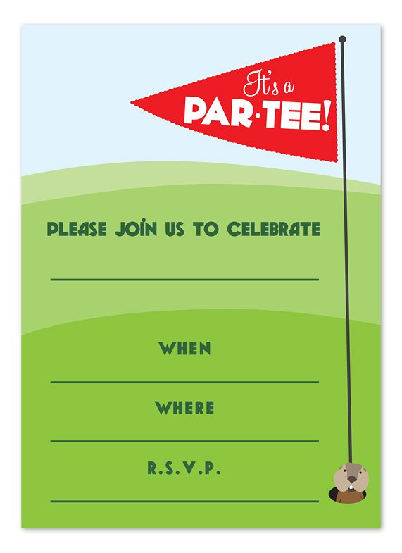 Par-Tee Time Fill-in Invitation