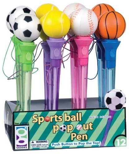 Sport Ball Pop Out Pen Assortment