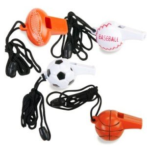 Sport Whistles Assorted