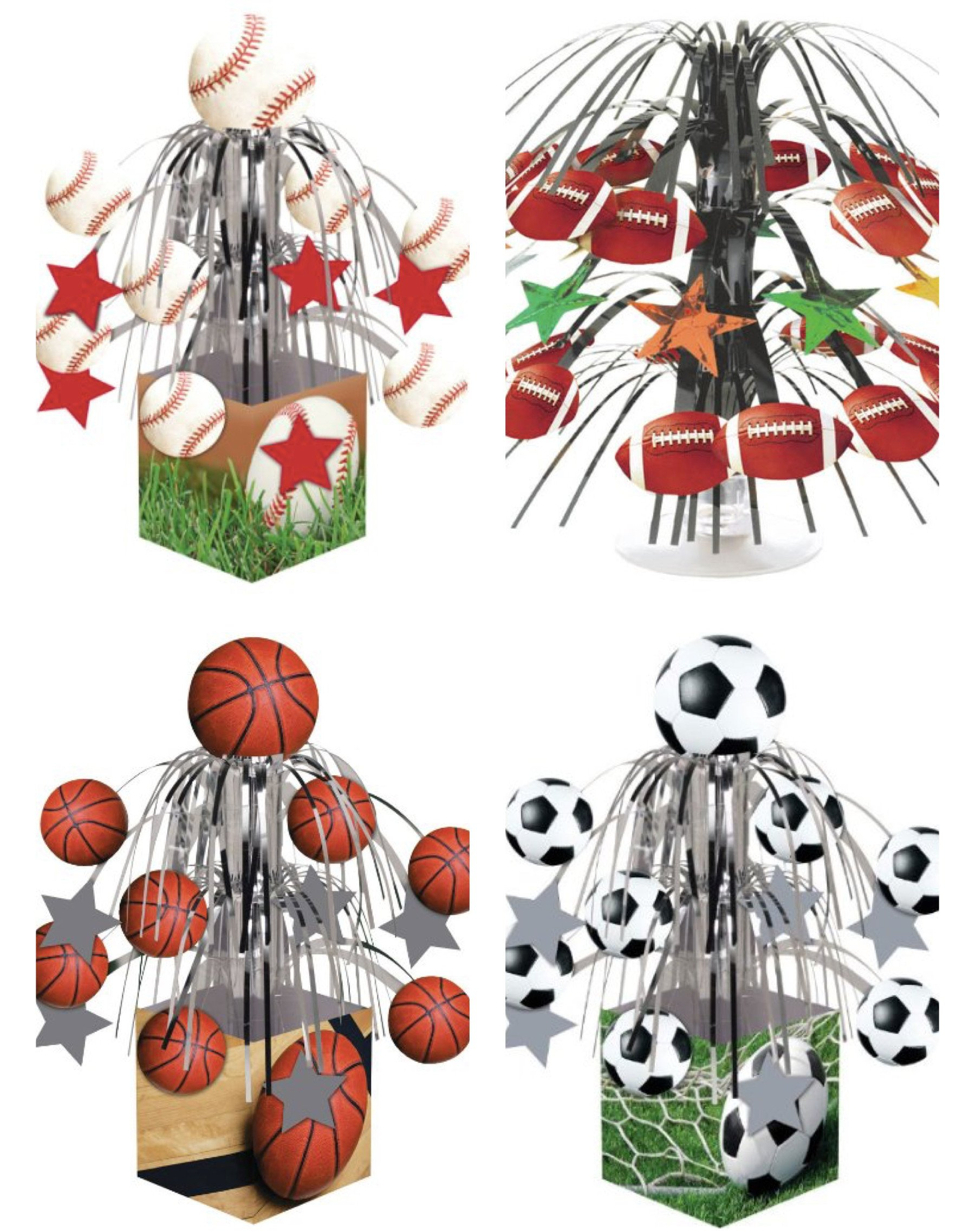 Sports Mylar Centerpieces