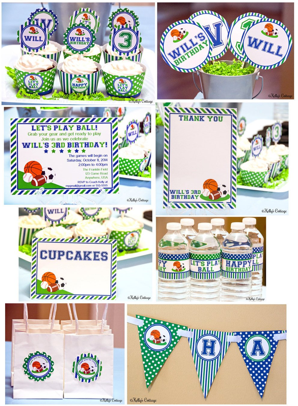 Sports Party Printable DIY Package