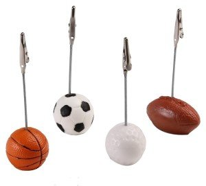 Sports Themed Place Card Holders