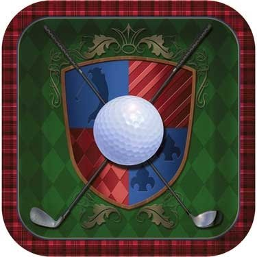 Tee Time Golf Plates