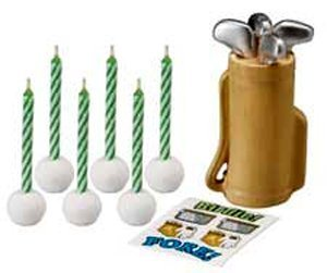 WILTON GOLF DECAL CANDLE SET