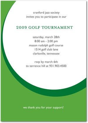 golf game corporate event invitations