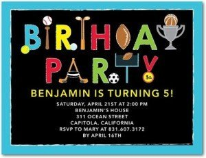 play ball birthday party invitations