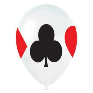 Card Game Party, Card Suit All Over Print Latex Balloons