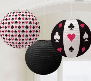 Card Game Party, Casino Paper Lanterns