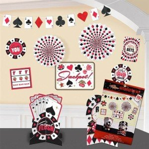Card Game Party, Casino Room Decorating Kit