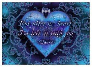 Edward's Heart Twilight Poster