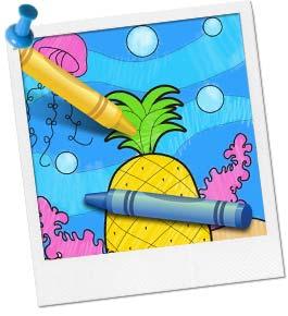 Free Sea Sponge Coloring Page