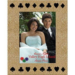 Gold Royal Casino Custom Glitter Frame