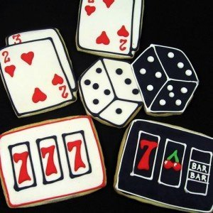Card Game Party, Las Vegas Themed Cookies