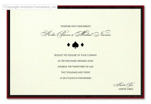 MONTE CARLO Party Invitation