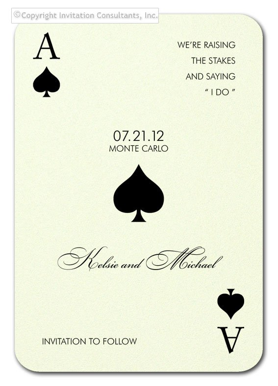 MONTE CARLO Card Game Party SAVE THE DATE