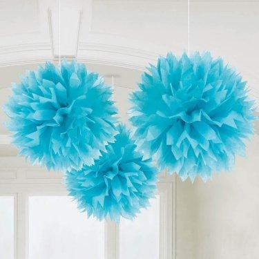 Ocean Blue Fluffy Decorations