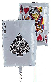 Playing Card Mylar Balloon