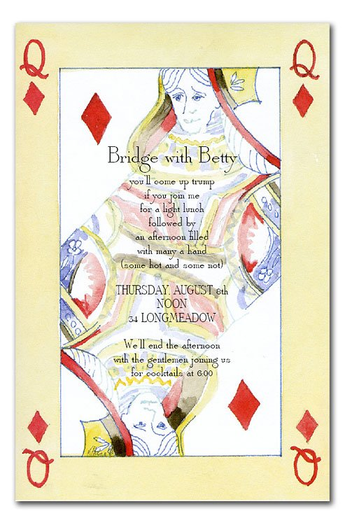 QUEEN OF DIAMONDS Party Invitations