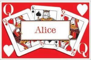Queen's Card Party Personalized Placemat