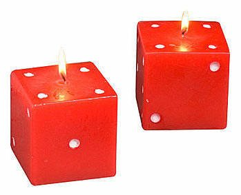 Card Game Party, Red Dice Candles
