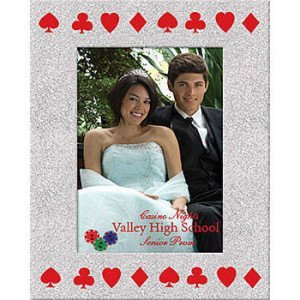 Silver Royal Casino Custom Glitter Frame