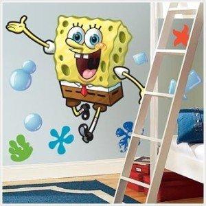 Spongebob Peel & Stick Giant Wall Decal