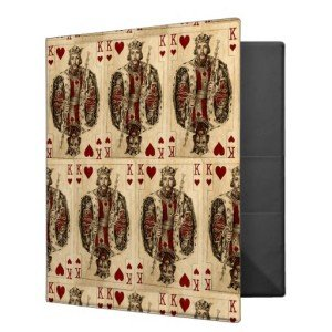 Vintage King Hearts PLaying Cards Collage