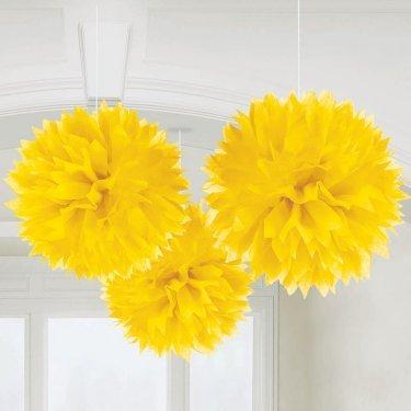 Yellow Fluffy Decorations