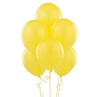 Yellow Matte Latex Balloons