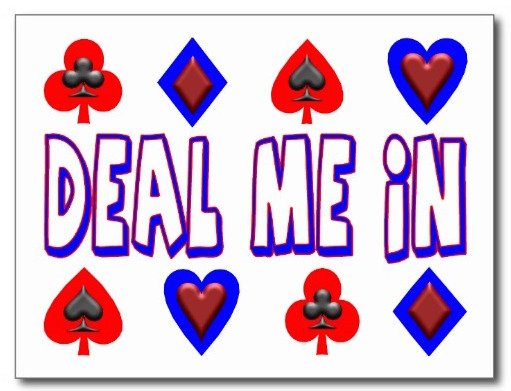 Card Game Party, deal me in playing cards postcards