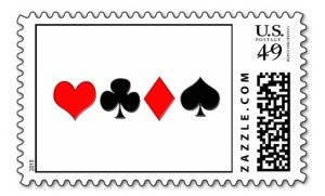 poker suits postage stamp