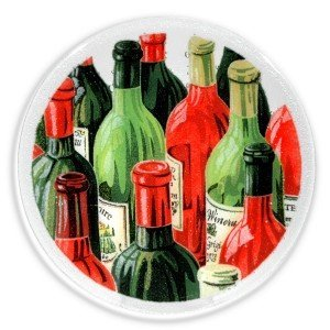 Peggy Karr Glass Wine Plates