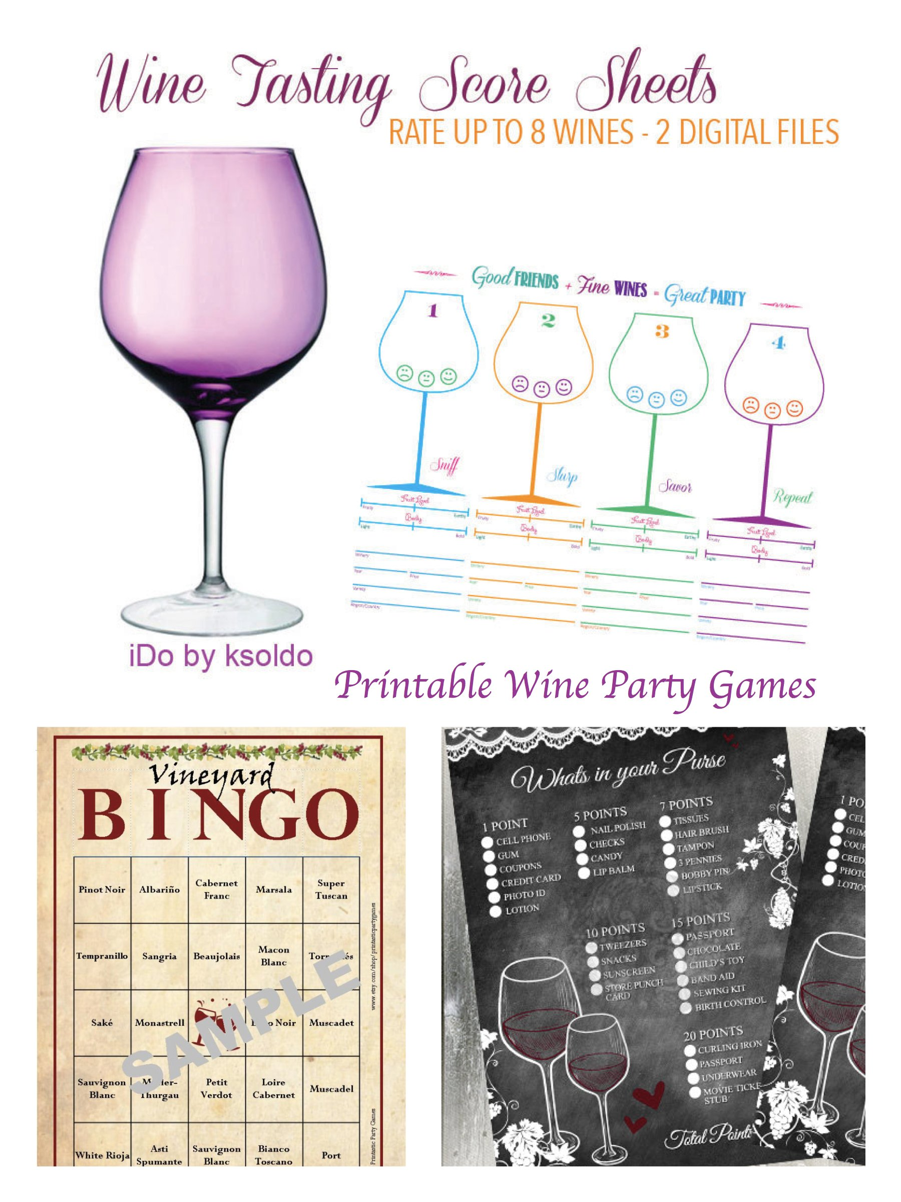 Printable Wine Party Games