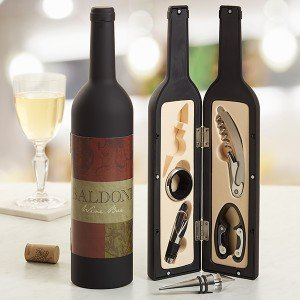 Wine Bottle Personalized Wine Accessory Kit
