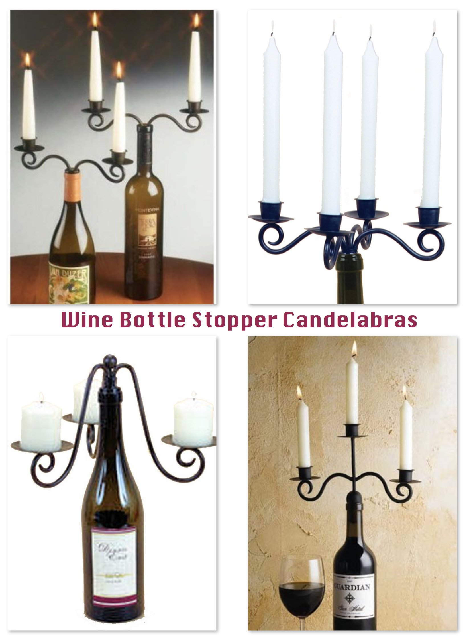 Wine Bottle Stopper Candelabras