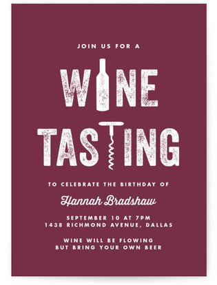 Wine-O Cocktail Party Online Invitations