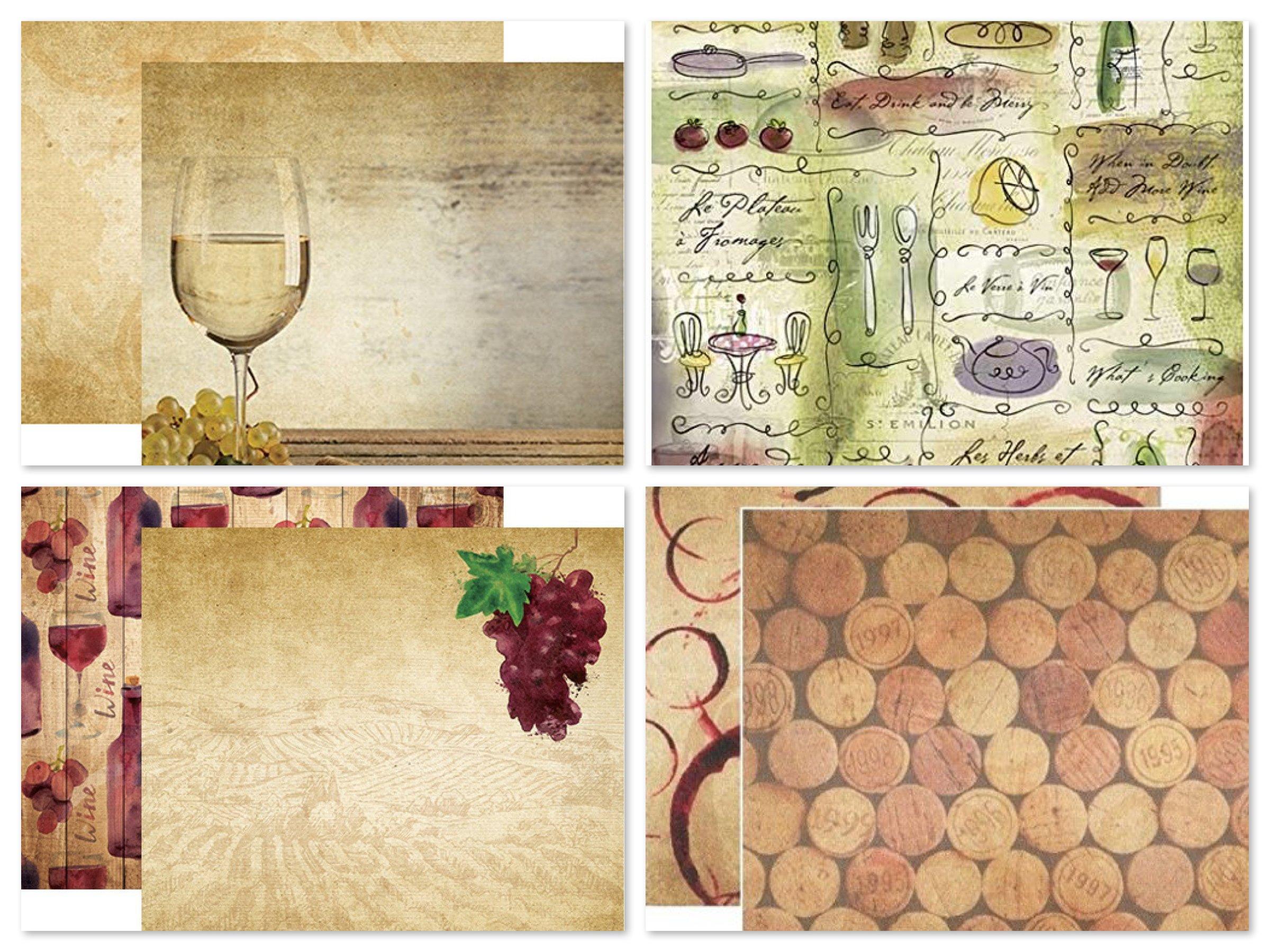 Wine Scrapbook Paper