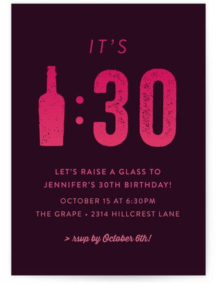 Wine-Thirty Cocktail Party Online Invitations