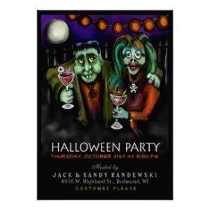 frankenstein date halloween party invite